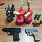 Bagnoli Irpino: pistole e munizioni nascoste in casa, carabinieri arrestano padre e figlio