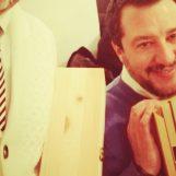 Salvini a Napoli, al leader della Lega offerto il vino Taurasi di Paternopoli