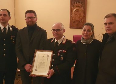 FOTOGALLERY/ Tributo di lode al Luogotenente Ciro Di Grezia