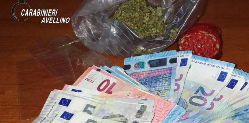 Avella. In possesso di marijuana, soldi e dosi di spaccio, denunciato ventenne
