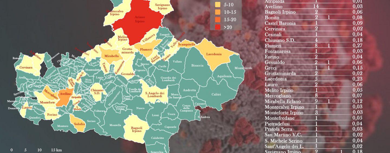 Emergenza Coronavirus. Altri 18 casi in Irpinia, la mappa aggiornata dei contagi