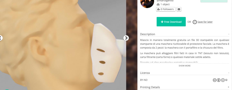 Mascherine realizzate con stampanti 3D, il genio dell'Irpinia al servizio della lotta al virus