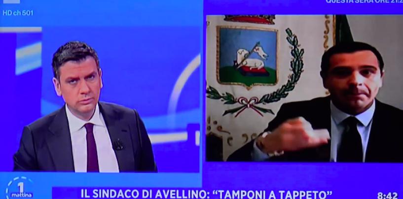 """Il modello Avellino sbarca sulla Rai. Festa a UnoMattina: """"Anticipare il virus, non rincorrerlo"""""""