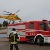 Video/Assistenza da parte dei Caschi Rossi durante l'atterraggio dell'elicottero del 118 a Sant'Angelo dei Lombardi