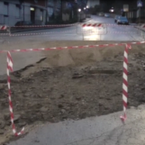 Video/Maltempo. Rotatoria di via Tuoro Cappuccini recintata, via Circumvallazione di nuovo praticabile