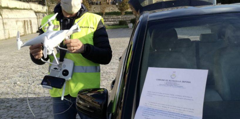 Altavilla Irpina, un drone contro i furbetti della quarantena