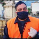 """VIDEO/Coronavirus, appello operatore ecologico irpino: """"Non gettate mascherine e guanti a terra, inquinanti e pericolosi per chi li raccoglie"""""""