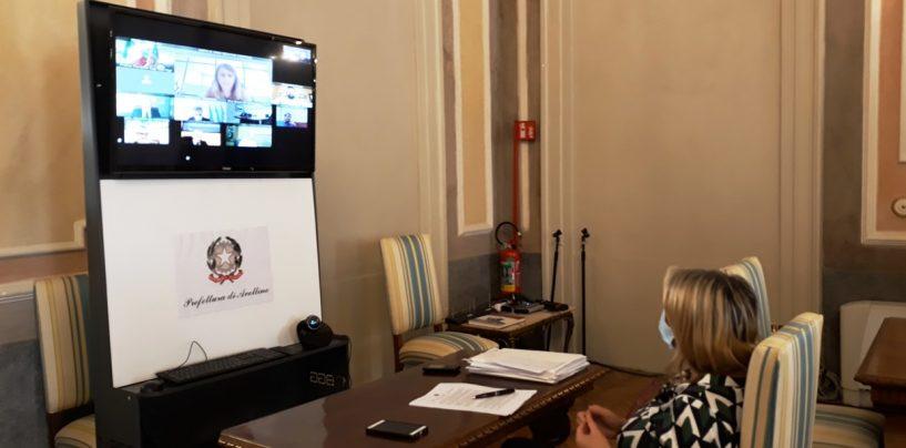 Ripresa attività produttive, riunione in videoconferenza in Prefettura