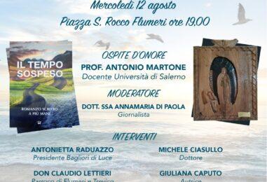 """Romanzo al tempo della quarantena, il 12 Agosto presentazione a Flumeri del """"Tempo Sospeso"""""""