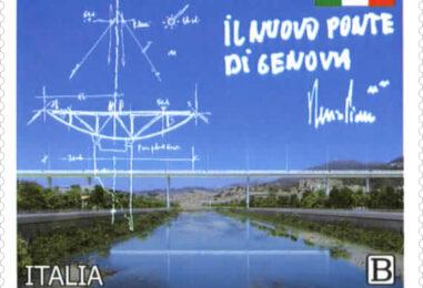Poste Italiane, il nuovo ponte di Genova su francobollo