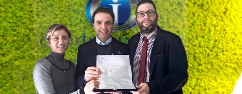 All'imprenditore Pagliarulo di Bisaccia il premio di Confimprednitori