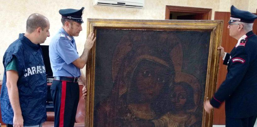 I carabinieri recuperano un dipinto del '600 scomparso 11 anni fa