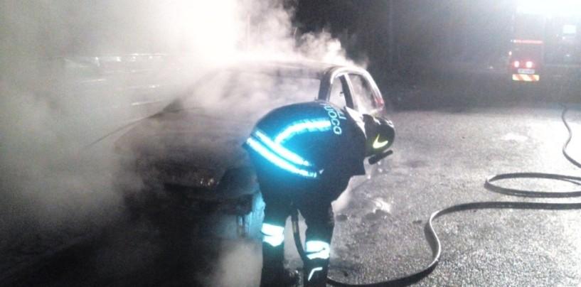 Baiano: auto in fiamme, intervengono i Vigili del Fuoco