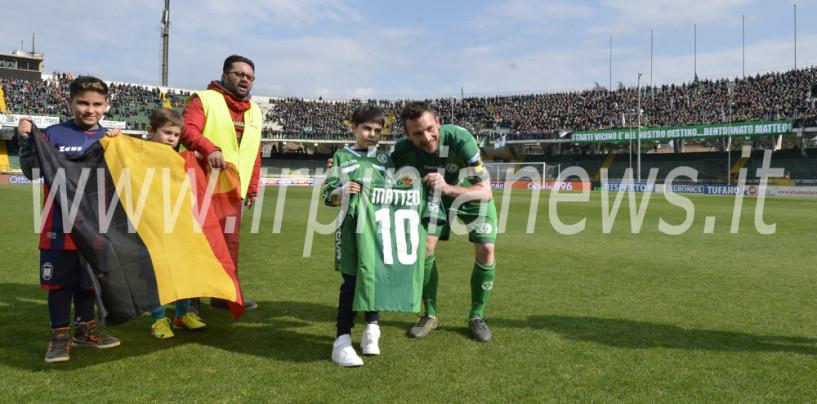 Avellino Calcio – La giornata speciale allo stadio del piccolo Matteo