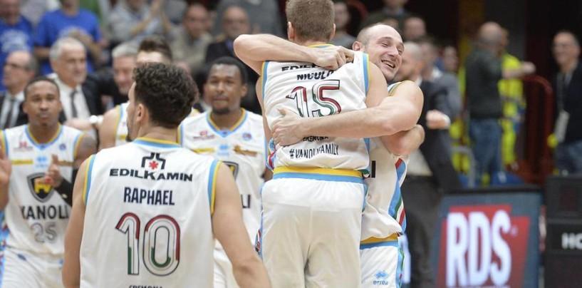 Basket Scandone, Cremona al Del Mauro per chiudere la pratica terzo posto