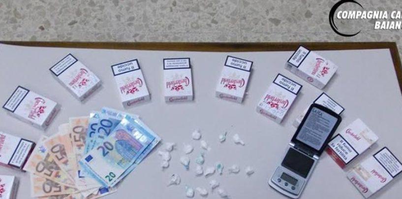 Nascondeva cocaina nei pacchetti di sigarette, scoperto e denunciato spacciatore