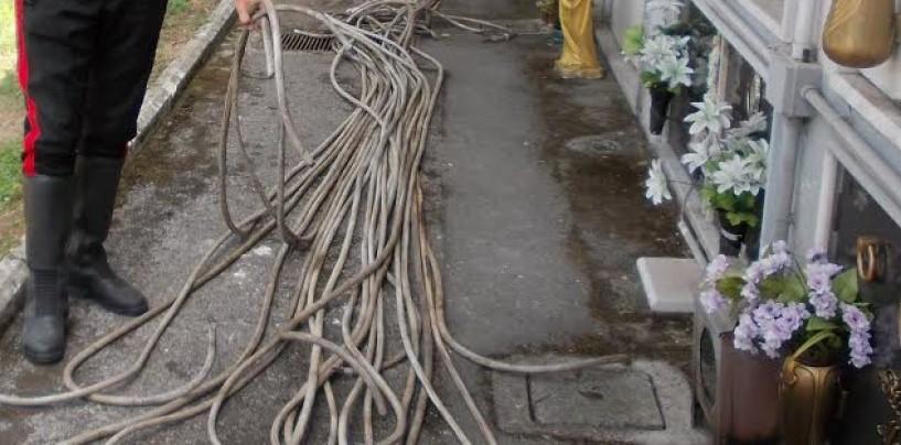 Sperone – Ruba cavi di rame nel cimitero: arrestato