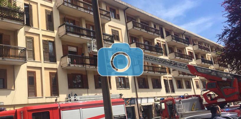 FOTO/ Incendio in un centro estetico di Avellino