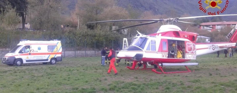Castelpagano, anziano trasportato al Rummo in elicottero