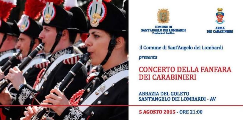 Sant'Angelo dei Lombardi – La Fanfara dei carabinieri incanta l'Abbazia del Goleto