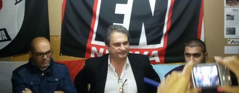 FOTO/ Fiore inaugura la sede di Forza Nuova a Montefusco, sit-in antifascista