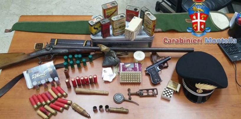 Montella, sequestrate armi e munizioni: 4 denunce