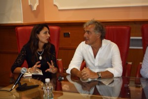 Teresa Lombardo e Massimo Giletti