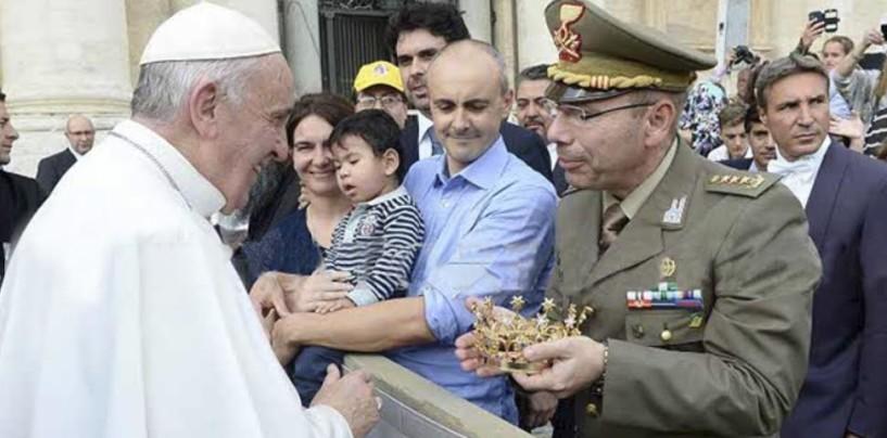 Il 232° Reggimento Trasmissioni di Avellino incontra Papa Francesco