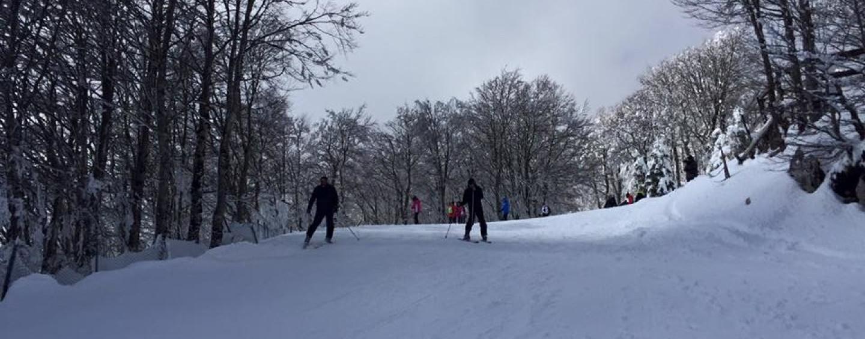 FOTO/ Laceno: la neve c'è, piste aperte tutto il week-end