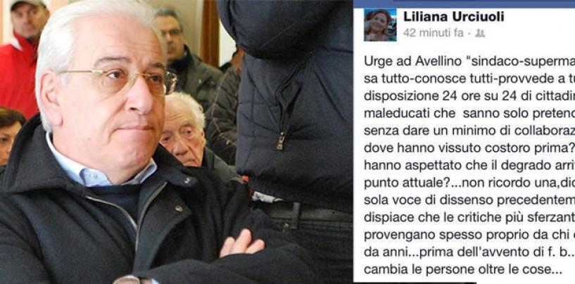 "Sfogo di Lady Foti su facebook: Urge ad Avellino""sindaco-superman""."