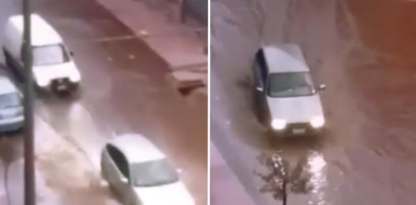 Maltempo, strade allagate ad Avellino: oltre 30 mm di pioggia in mezz'ora