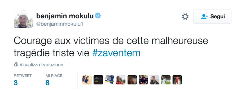 Il tweet di Mokulu