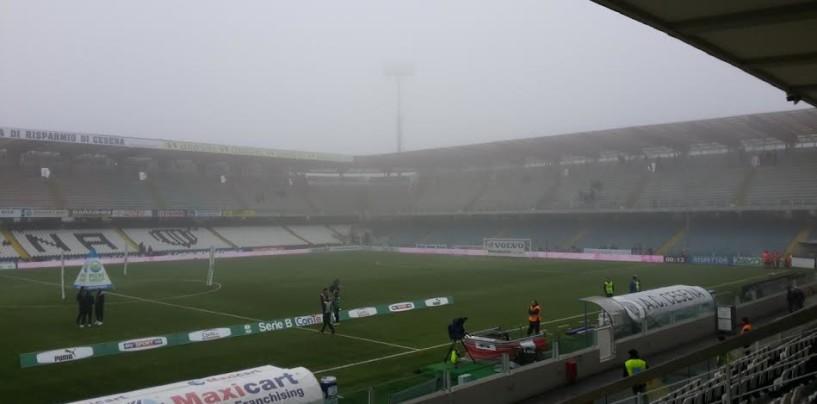 LIVE FOTO / Avellino Calcio – Nebbia fitta a Cesena: la situazione allo stadio Manuzzi