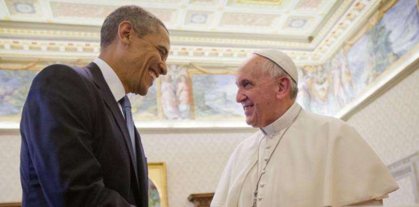 Il Papa alla Casa Bianca incontra il Presidente Obama