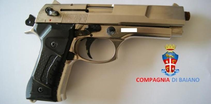Lauro – Pistola e munizioni occultate sotto un monumento pubblico