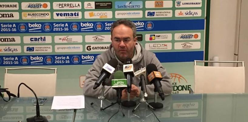 """Sidigas Avellino, Sacripanti chiama a raccolta i tifosi: """"Cremona test importante, vogliamo il terzo posto"""""""
