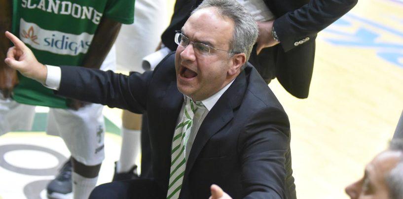"""Basket, Sacripanti: """" Per vincere a Reggio serve la partita perfetta, incassiamo ma non molliamo"""""""