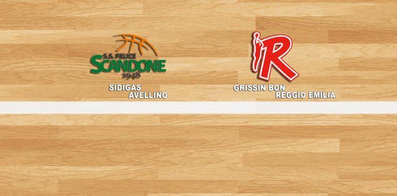 Basket, Sidigas Avellino stellare, Reggio Emilia è annichilita. Ritorna l'equilibrio nella semifinale