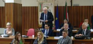 Il sindaco Foti in Consiglio