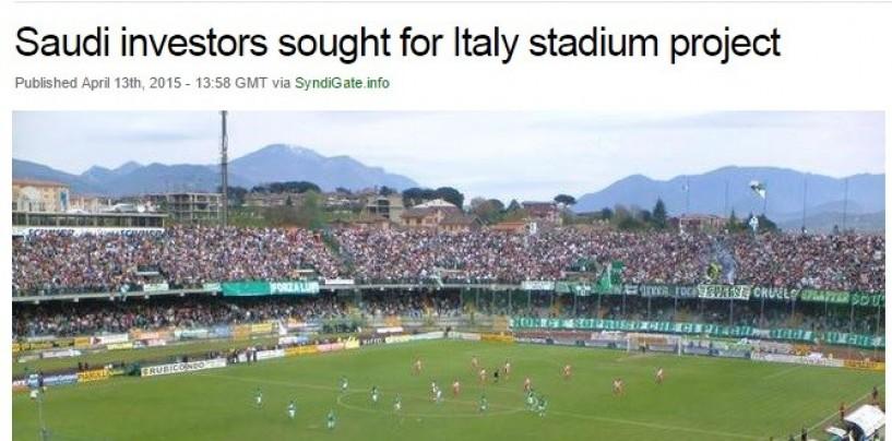 Dagli Arabi 45 milioni di € per il nuovo Stadio dell'Avellino Calcio…