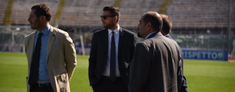 FOTONOTIZIA / Avellino Calcio – La dirigenza biancoverde al fianco di Tesser a Livorno