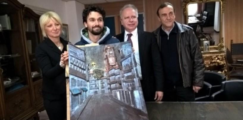 Donata al Comune di Avellino una scultura di cioccolato rappresentante la Torre dell'Orologio