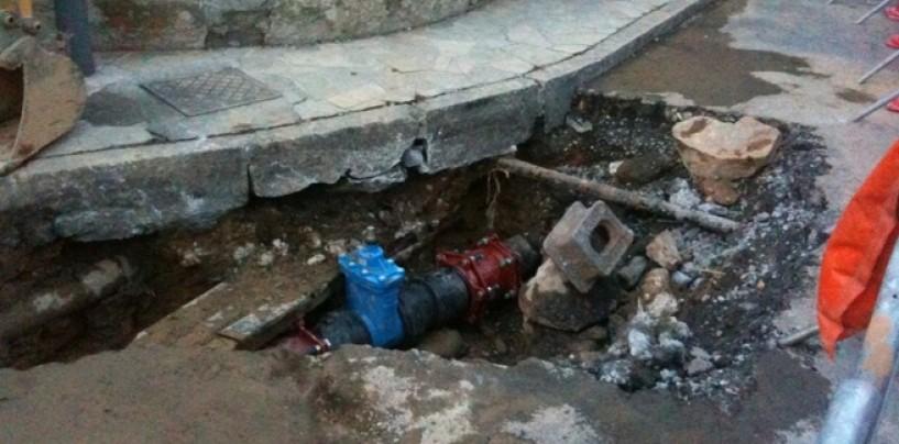 Si rompe condotta a San Potito, 10 Comuni senz'acqua