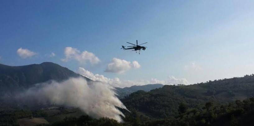 Lapio, in fiamme cinquanta ettari di macchia mediterranea