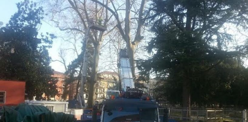 Vento forte su Avellino, chiudono ville e parchi comunali