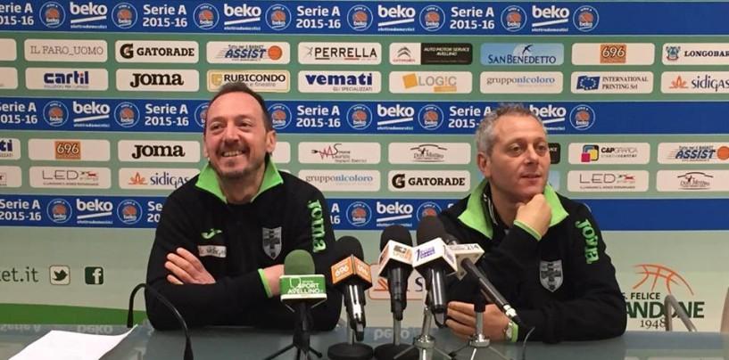 """Sidigas Avellino, Oldoini e De Gennaro in coro: """"Grazie tifosi, ora lo sprint per i play off, Sassari la peggior squadra da affrontare"""""""