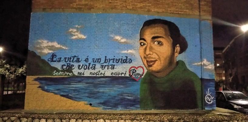 Avellino ricorda Fabio Spolverino con un mega murales