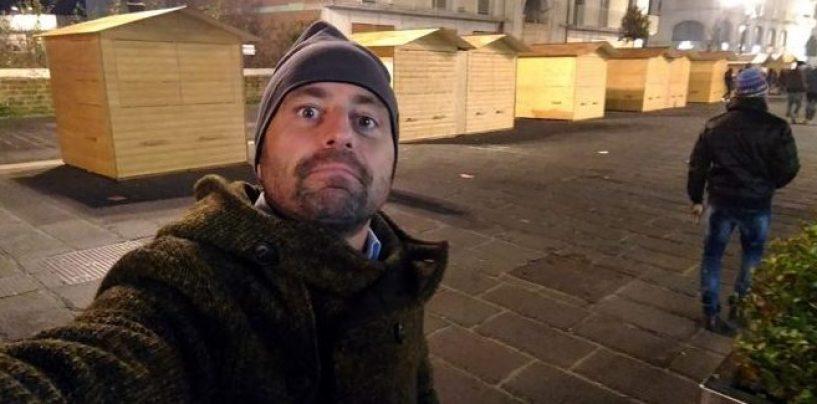"""Avellino """"buca"""" il Natale e Luca Abete ironizza sui social"""