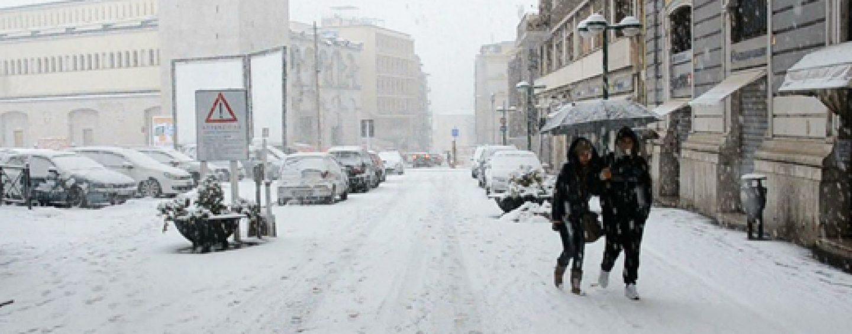 Emergenza neve, chiusura scuole e Università a Benevento