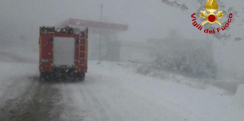Emergenza neve, tutti gli interventi dei Vigili del Fuoco